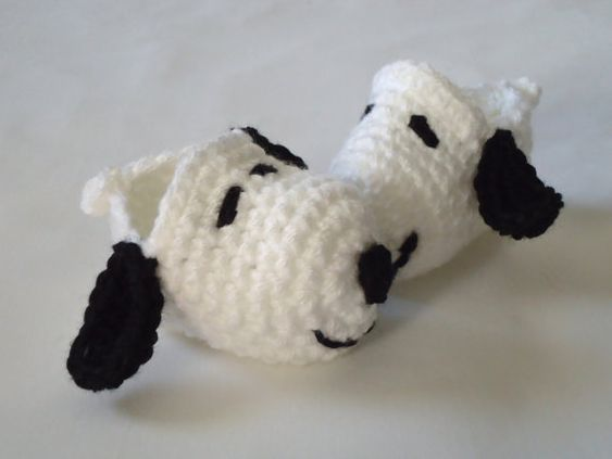 Snoopy Crochet Baby Booties Please Select by RCarolineCreations, $12.00: