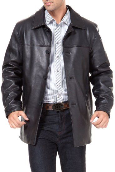 Amazon.com: BGSD Men&39s New Zealand Lambskin Leather Car Coat