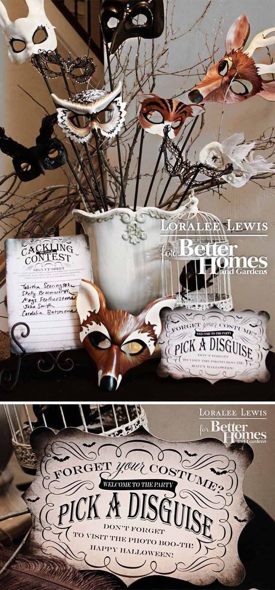 Loralee Lewis for Better Homes and Gardens Halloween Magazine. Includes FREE printables