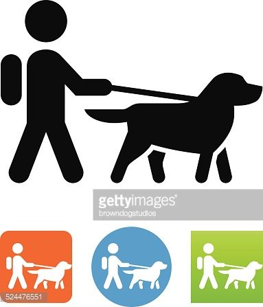 dog on lead vector - Google Search
