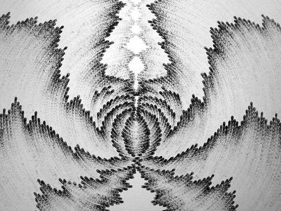 Charcoal fingertip drawings
