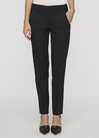 Vince - Piped Trousers - Black