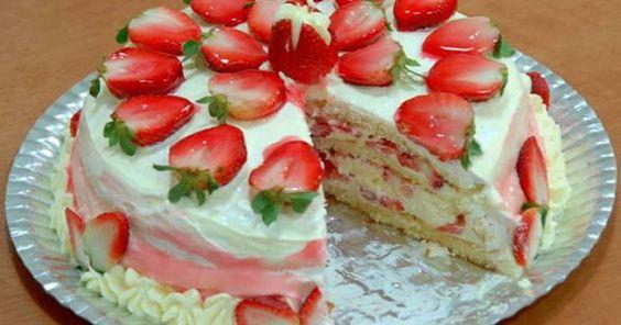 Veja a Deliciosa Receita de Receita de Torta de Morango Cremosa. É uma Delícia! Confira!
