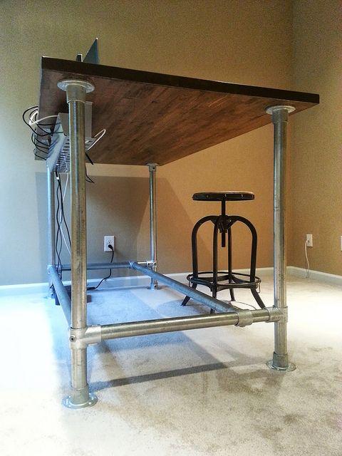 custom standing desk by simplified building concepts via flickr decoration pinterest tank. Black Bedroom Furniture Sets. Home Design Ideas