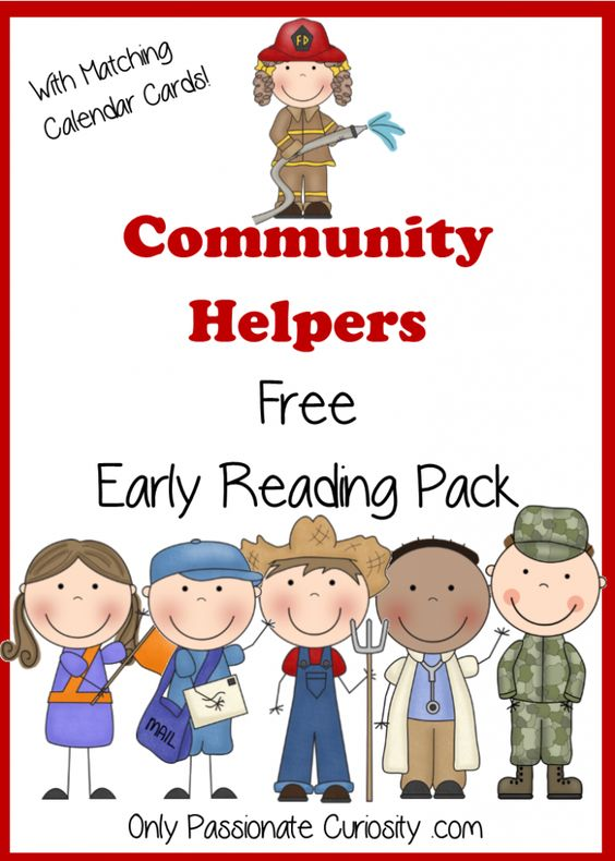 community helpers writing paper (this post contains affiliate links) as we move through this reading mama's phenomenal reading the alphabet, a reading curriculum for preschoolers, i'm making printable emergent readers to use with my three and four for my fourth set i chose to make four community helpers emergent readers.