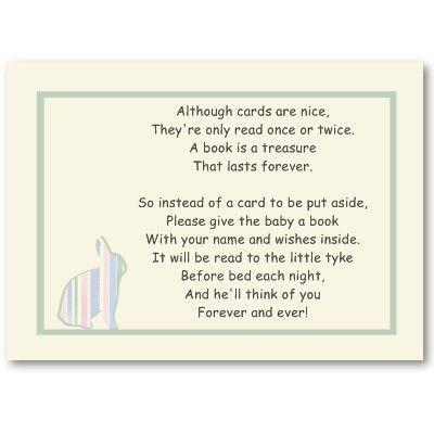 poem showers book cards baby showers ideas baby shower books baskets