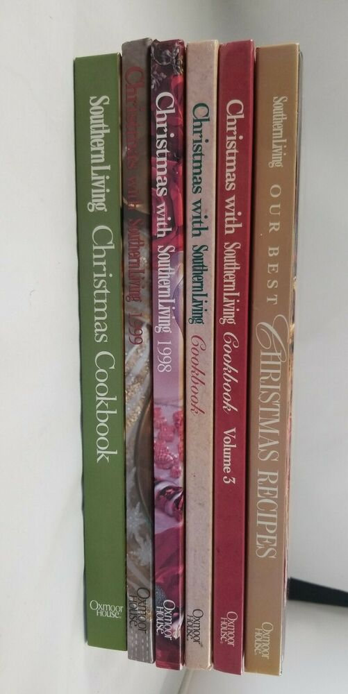 Southern Living Christmas Cookbook 2020 Christmas With Southern Living Cookbooks Lot Of 6 Recipes 1998