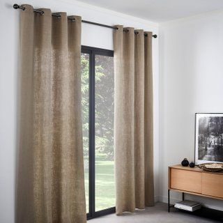 Rideau Tamisant Lineo Naturel L 140 X H 280 Cm Inspire Home Decor Home Curtains