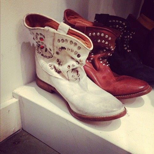 Be still our hearts: updated Isabel Marant slouchy boots for Spring '13