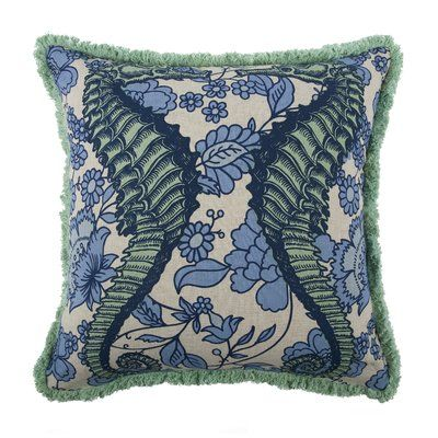 Thomas Paul Vineyard Seahorse Flax Throw Pillow With Images