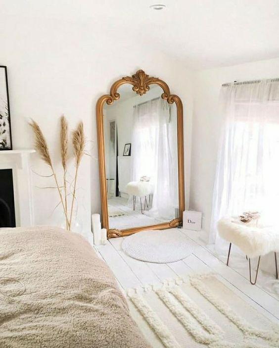 Corner Mirror Corner Mirror In 2020 Mirror Wall Bedroom Wall Mirror Decor Living Room Living Room Mirrors