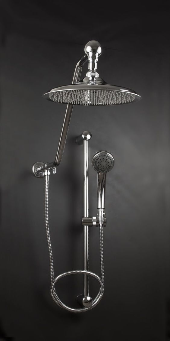Atlantis Rain Shower Heads with Powerful Handheld Oversized 10 inch Diameter Stainless Rainfall Shower Head with 260 spray tips Deluxe Adjustable Hand Held 3 Position Shower Head 13 inch High Rise Shower Arm, adds Showering Space