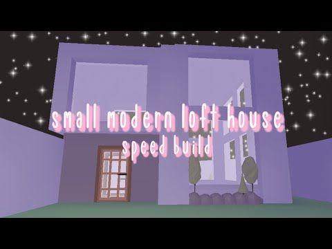 Small Modern Loft House Part 1 Adopt Me Roblox Diy Rooftop Glitch Build Abliss Youtube In 2021 Loft House Unique House Design Modern Loft