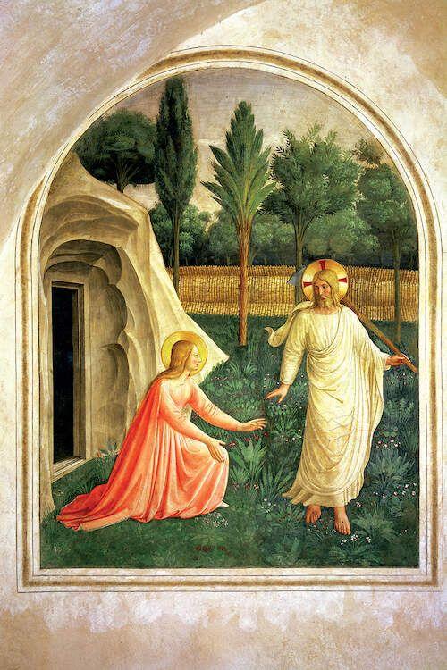 Noli Me Tangere 1442 Canvas Art Print By Fra Angelico Icanvas In 2020 Noli Me Tangere Fra Angelico Renaissance Art