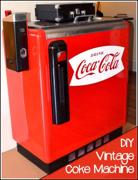 DIY Vintage Coke Machine- love this DIY refurbish on an old machine:)
