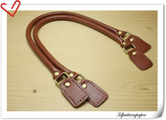 leather handles 23.5  inch a pair terracotta K6. $12.00, via Etsy.