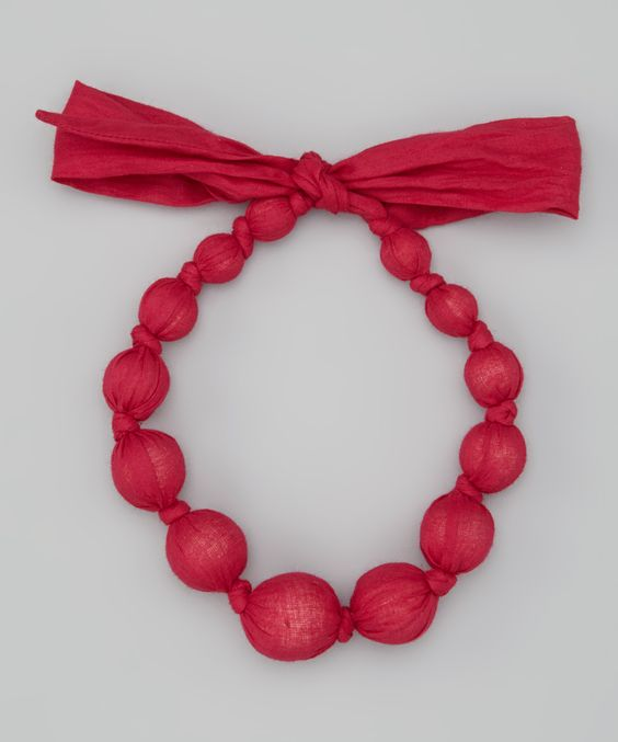 Hot Pink Beaded Necklace   Daily deals for moms, babies and kids