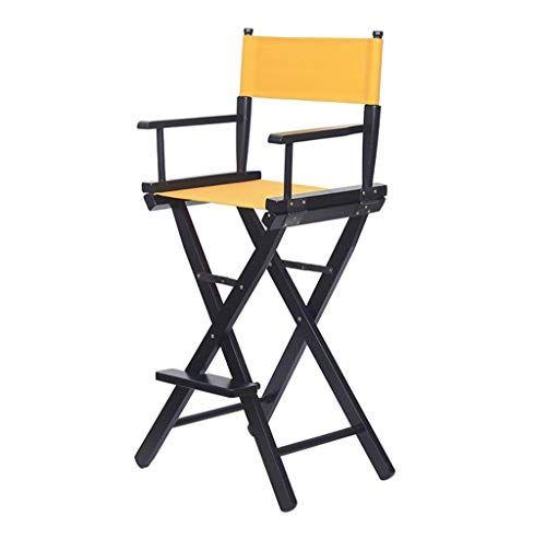 Dccyz Yj President Directeur Pliant En Bois Peu Encombrante Canvas Chair Seat Tabouret De Bar Tabouret De Bar Tabouret De Bar Bois Chaise De Maquillage