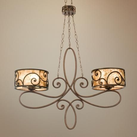 Windsor Collection Stained Mica 10 Light Island Chandelier