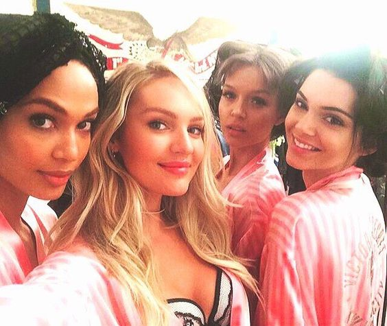 Look! Who is here  / #VSFashionShow2015 #VSFS2015 #kendalljenner #joansmalls #josephineskriver & #Candiceswanepoel