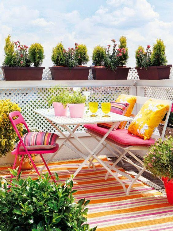 5 Ideas para decorar una pequeña terraza urbana: