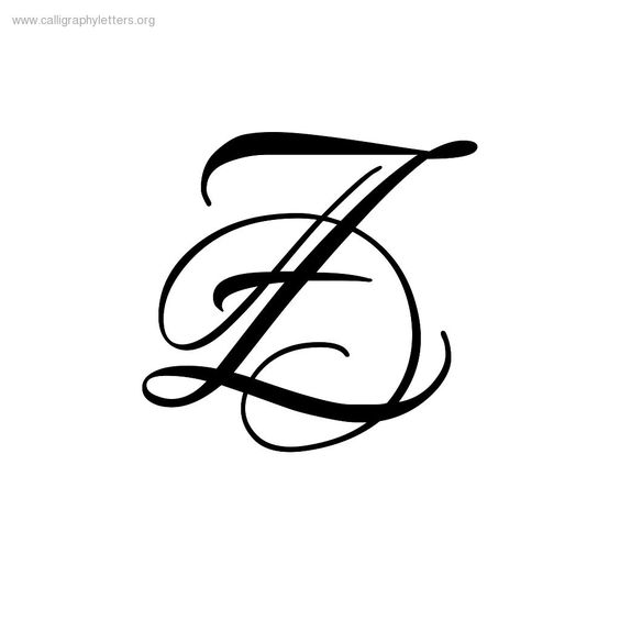 Pics For Calligraphy Letter Z Thin Line Tattoo