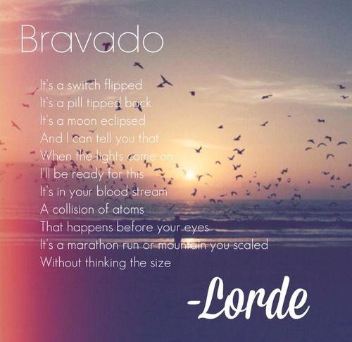 Lorde – Bravado acapella