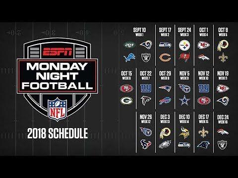 Youtube Monday Night Football Football Nfl Football