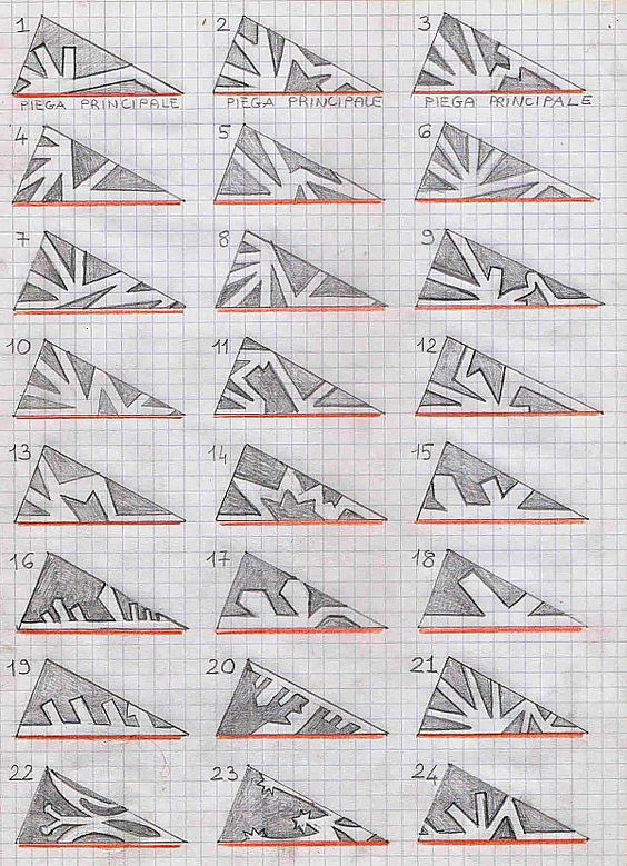 Diy models for paper snowflakes xmas present black for Diy snowflakes paper pattern