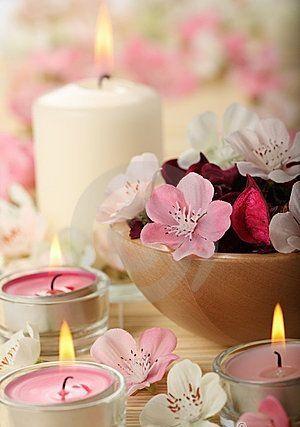 Velas y Flores combinan perfecto