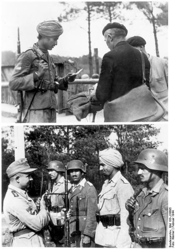 Soldaten der Legion Freies Indien