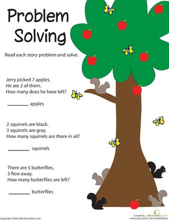 Printables Problem Solving In Grade 1 problem solving adding apples to be back and school