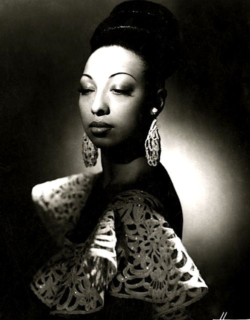 Josephine Baker, 1950 Vintage Black Glamour at its best.: