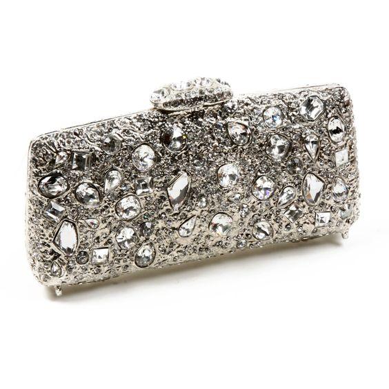 Clara Kasavina Swarovski embellished clutch