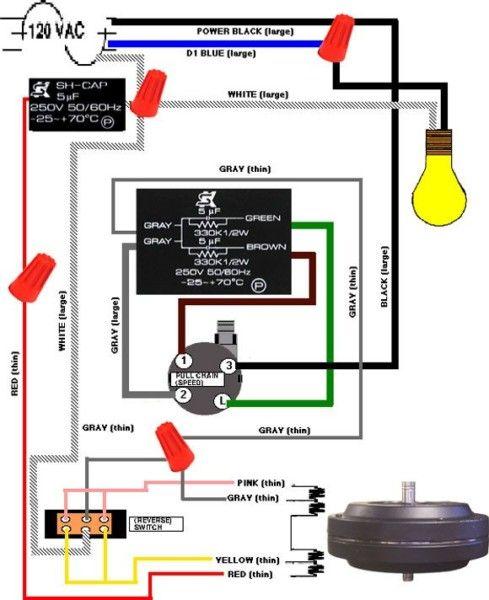 Fixing A Ceiling Fan Switch | Ceiling fan pull chain, Ceiling fan with  light, Ceiling fan pulls | 3 Speed Ceiling Fan Switch Wiring Diagram |  | Pinterest