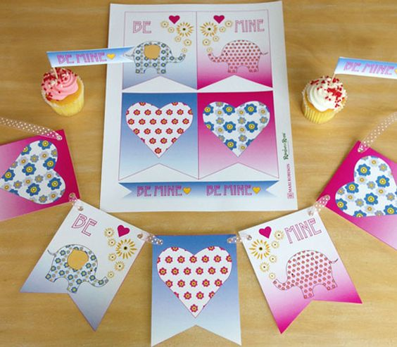 Valentine's Day Printables from Mari Robeson! #nursery #elephant #party