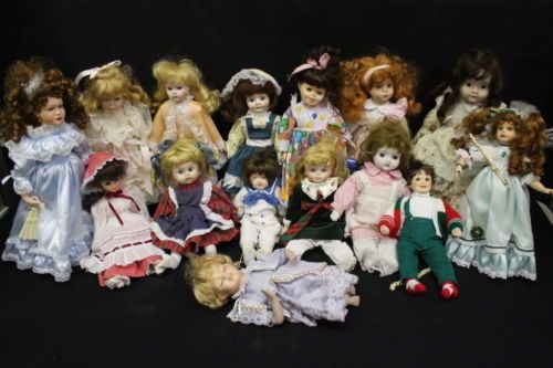 Lot-of-15-Vintage-Porcelain-Dolls-Collector-Dolls-in-Excellent-Condition-6