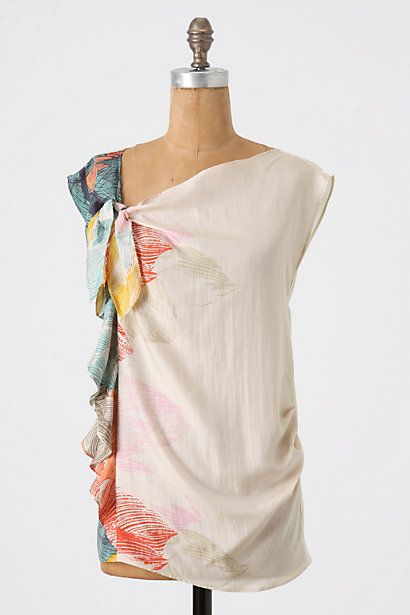 I love any clothing that looks like  watercolor painting! It's wearable art!