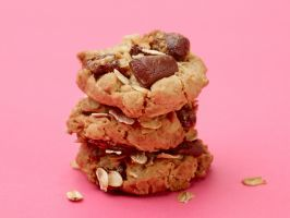 """February:Healthy Oatmeal, Date and Chocolate Chunk Cookies : These cookies don't taste """"healthy,"""" which makes them the perfect way to avoid breaking any eat-better resolutions. Toasting the oats before adding them to the batter helps maintain their chewy texture, even after baking."""