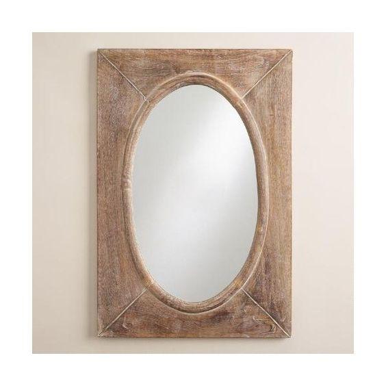 Cost Plus World Market Rustic Wood Shandi Framed Oval