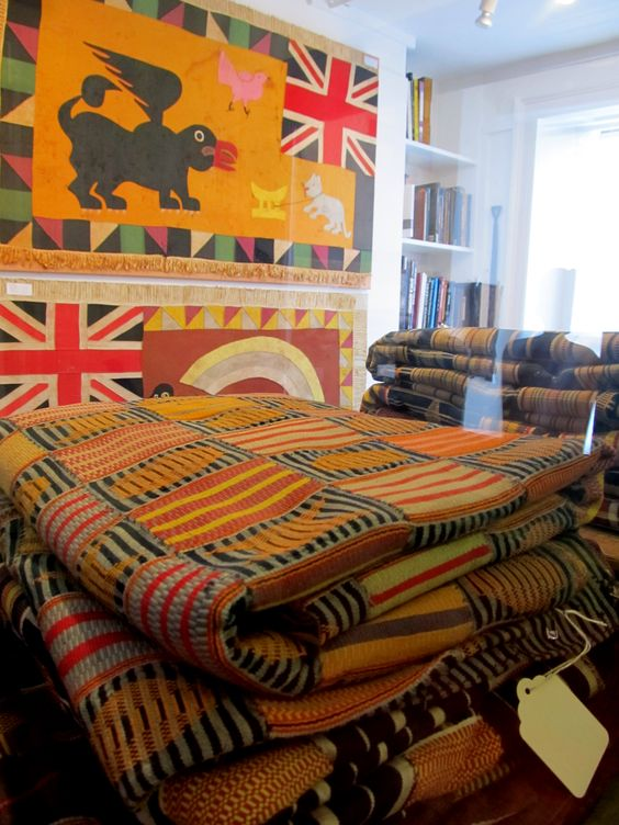 The Shops at Alfie's Antique Market -- here, Adire African Textiles (fine 19th century pieces among others!)  www.alfiesantiques.com