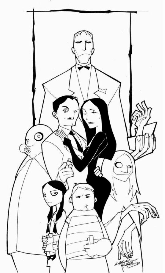 Pin By Jsk Z On Drawing Addams Family Poster Family Drawing Family Sketch
