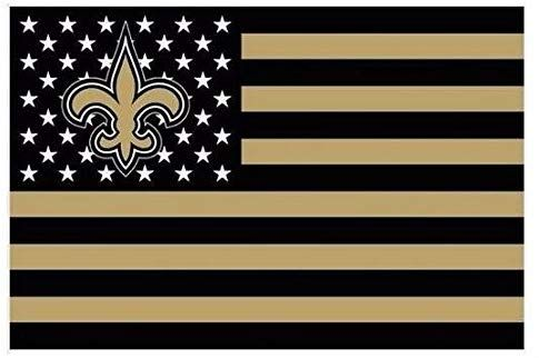 Nfl New Orleans Saints Stars And Stripes Flag Banner 3x5 Ft Usa Flag White New Orleans Saints Flag Football Flag Banners