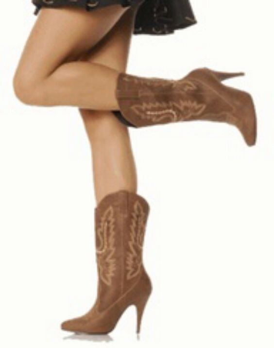 High heel cowgirl boots | Always Wear Heels | Pinterest | The o ...
