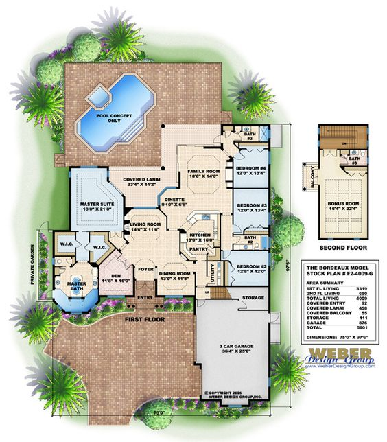 Mediterranean House Plan Bordeaux House Plan Weber Design Group