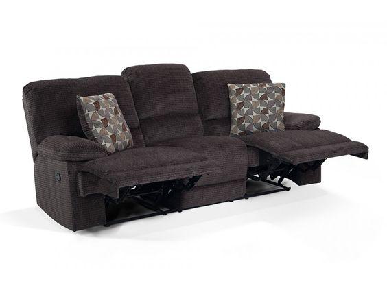 Dual Reclining Sofa With Bob O Pedic Memory Foam