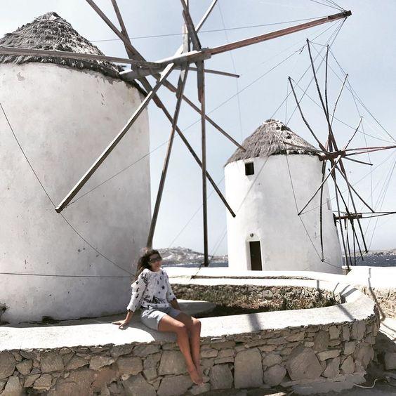 "More-Mode on Instagram: ""Just a little Wind... #mikonos #summer2019 #mykonosisland #littlevenice #thewindmills #greekisland #cicladi #estate2019"""