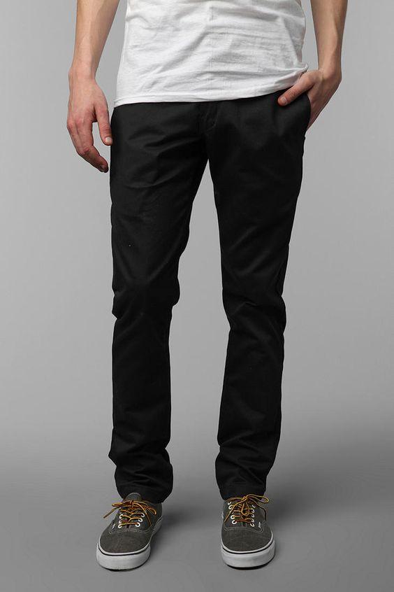 black skinny leg work pants - Pi Pants