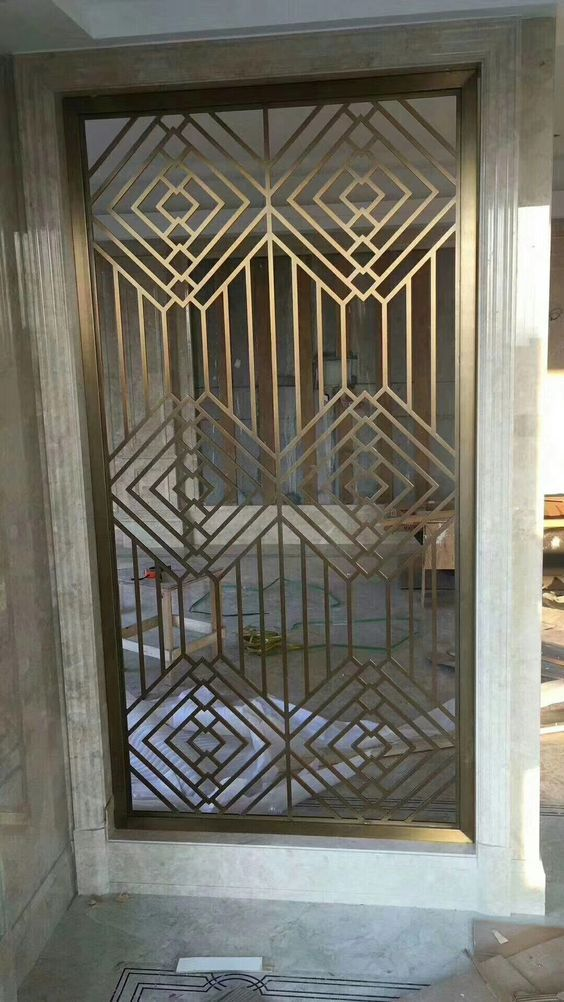 Pin By Swaathy On Home Ideas Stainless Steel Screen Grill Door Design Decorative Wall Panels