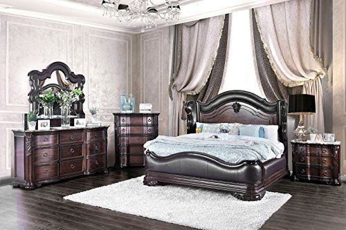 marble bed nightstand set